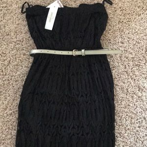 Lace black maxi with belt